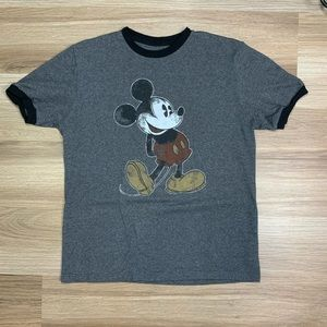 Disney Parks Distressed Mickey Mouse Tee Medium